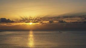Dawn στον κόλπο Arinaga Στοκ φωτογραφίες με δικαίωμα ελεύθερης χρήσης
