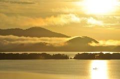 Dawn στον κόλπο Antonina Στοκ φωτογραφία με δικαίωμα ελεύθερης χρήσης