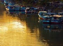 Dawn στον ποταμό σε Padang Στοκ φωτογραφίες με δικαίωμα ελεύθερης χρήσης