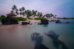 Dawn στο νησί του ST Mary, Karnataka Στοκ Φωτογραφία