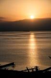 Dawn της νεκρής θάλασσας στοκ εικόνα