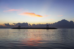 Dawn της παραλίας Sanur, Μπαλί Στοκ εικόνα με δικαίωμα ελεύθερης χρήσης