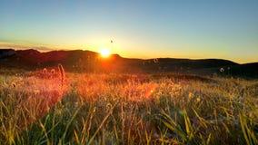 Dawn του chater-Dag, κοντά στο βουνό AK-Burun στοκ εικόνες με δικαίωμα ελεύθερης χρήσης