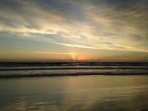 Dawn above Atlantic Ocean. Stock Photos