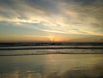 Dawn above Atlantic Ocean. Stock Photo