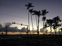 Dawn above Hilo Bay in Hilo, Hawaii. Royalty Free Stock Photos