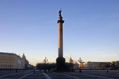 Dawn above Saint-Petersburg Royalty Free Stock Photo