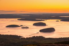 Dawn in Acadia National Park stock photos