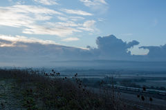Dawn Across Ouse Valley. Dawn looking south east across Ouse Valley towards Firle Beacon Royalty Free Stock Images