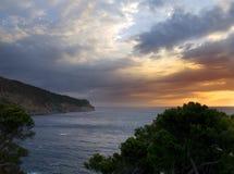 Dawn at Aiguablava. Beautiful dawn in the Aiguablava beach, in the Catalu�a region (Spain Royalty Free Stock Photography