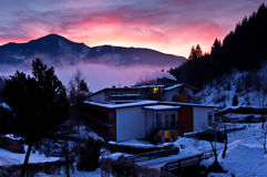 Dawn at the Alps Royalty Free Stock Photo