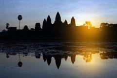 Dawn at Angkor Wat Stock Photo