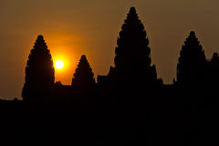 Dawn at Angkor Wat Stock Photo