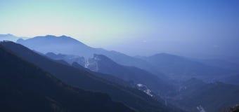 Dawn in Apuan Alps, Carrara, Italy stock photo