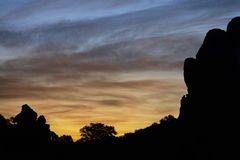 Dawn, Arches National Park Royalty Free Stock Images