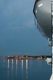 Dawn at arrival in Palma port. Royalty Free Stock Photo