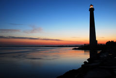 Dawn on Barnegat Lighthouse Stock Photography