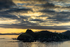 Dawn in the Bay of Islands, New Zealand Royalty Free Stock Image