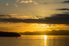 Dawn in the Bay of Islands, New Zealand Royalty Free Stock Photography