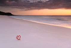 Dawn on the beach at Jervis Bay Royalty Free Stock Photo
