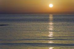 Dawn on a beach of Santa Pola, Royalty Free Stock Image