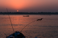 Dawn At Benaras Royalty Free Stock Image