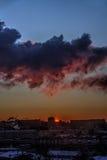 Dawn. Big city. Royalty Free Stock Photos