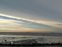 Dawn bij het overzees royalty-vrije stock fotografie