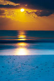Dawn bij kust Royalty-vrije Stock Foto's