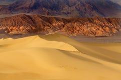 Dawn bij mesquiteduinen - doodsvallei Royalty-vrije Stock Afbeelding