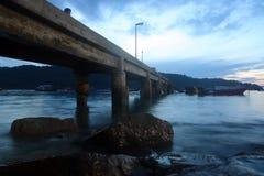 Dawn bij pier Royalty-vrije Stock Afbeelding