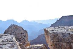 Dawn bij rotsen van het Parkbergen van Colorado Grand Canyon de Nationale royalty-vrije stock afbeeldingen