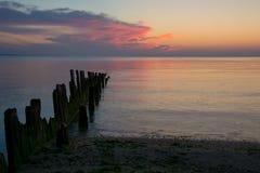 Dawn bij Strand Royalty-vrije Stock Foto