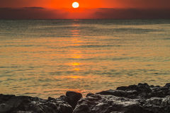 Dawn on the Black Sea. Royalty Free Stock Photography