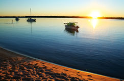Dawn Boats Royalty Free Stock Photo