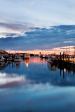 Dawn in Boston Harbor Royalty Free Stock Images
