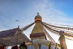 Dawn on a Boudha. Royalty Free Stock Photography