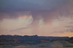Dawn breaking in the desert during the summer Royalty Free Stock Photography