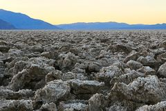 Dawn breaks in Death Valley Royalty Free Stock Images