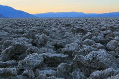 Dawn breaks in Death Valley Stock Photo