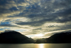 Dawn Breaks Over Juneau Alaska Royalty Free Stock Photography