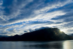 Dawn Breaks Over Juneau Alaska Stock Photo