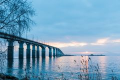 Dawn by the bridge Royalty Free Stock Image