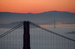 Dawn Bridges Stock Photography