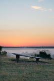Dawn broken bench vantage point Royalty Free Stock Photos