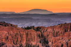 Dawn on Bryce Canyon. National park Stock Photo