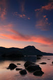 Dawn in a calm bay Royalty Free Stock Image