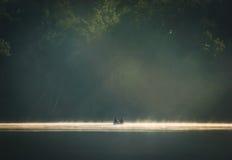 Dawn Canoe, seta do lago, Canadá 2005 Imagem de Stock
