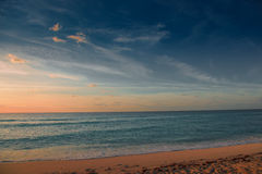 Dawn in the Caribbean Sea. Morning Stock Photography