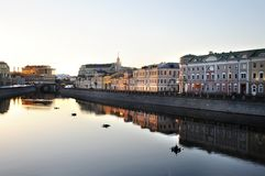 Dawn in city center. Stock Image
